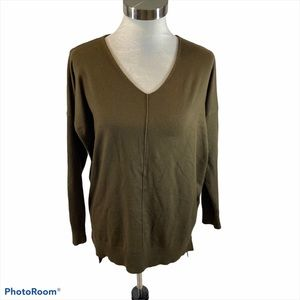 Dreamers Army Green Oversized Sweater Size XS
